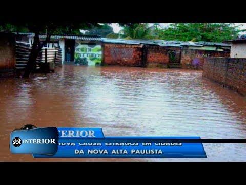 Chuva causa estragos em cidades da nova alta paulista
