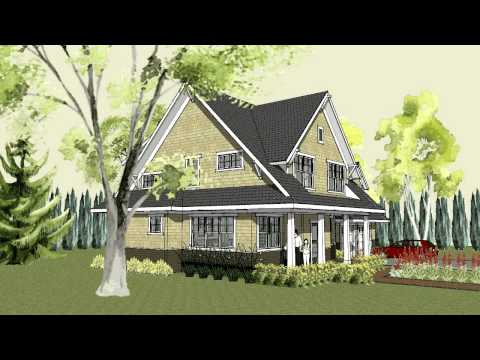 Simple craftsman home plan with cottage exterior and front porch - Stillwater Craftsman