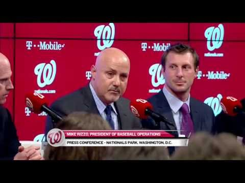 The Nationals hold a press conference to introduce Max Scherzer