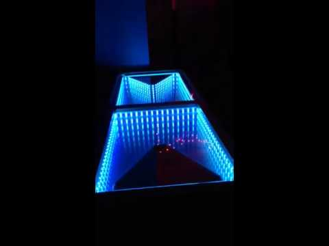 Infinity Mirror Led Beer Pong Table Done By Www