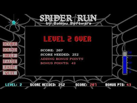 Spider Run (DOS) - Game Play