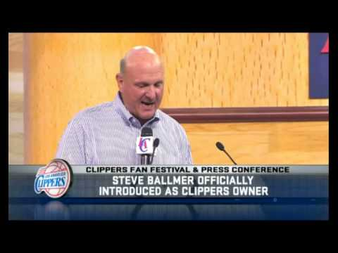 Steve Ballmer speech at Clippers press conference