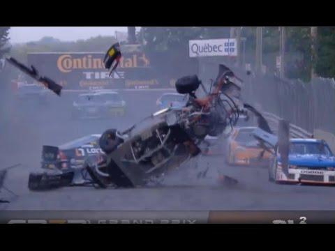 Massive Crash @ 2014 Nascar Canada Series Trois-Rivieres