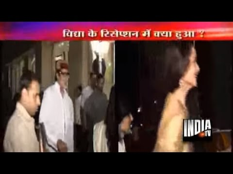 Amitabh & Rekha ignore each other at VIdya's reception