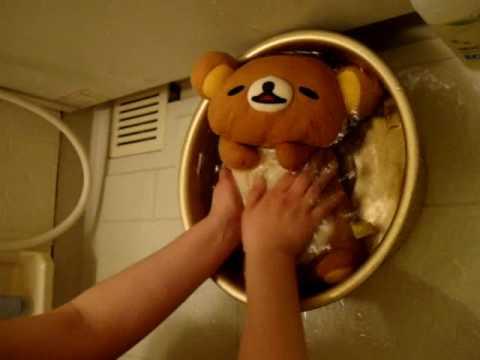リラックマを洗う