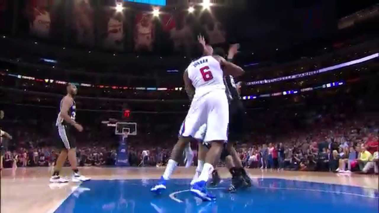 Tim Duncan Comes Up with Huge Block on Blake Griffin