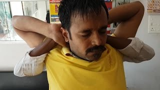 Rare head and body massage style by a rural barber (Extreme)