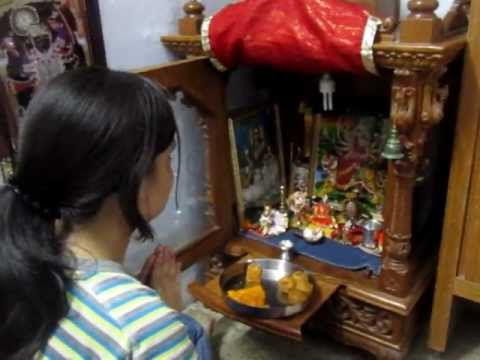 Hindu Prayer Before Meals -- Pooja (offering)