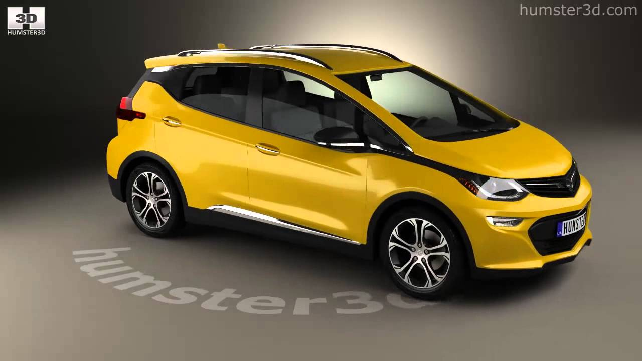 Opel Ampera-e 2017 3D model by Humster3D.com - YouTube