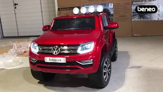 Unboxing and assembly of Volkswagen Amarok electric ride-on car