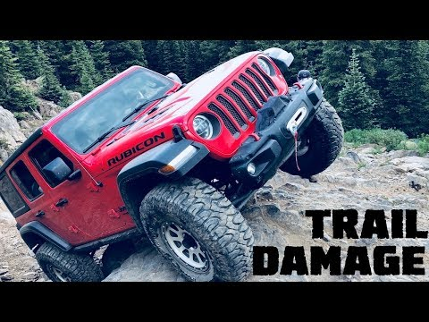 TRAIL DAMAGE On Our 2018 Jeep Wrangler JLU Rubicon From Holy Cross