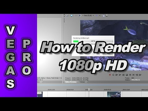 Sony Vegas Pro 11: How to Render 720p & 1080p HD Video for YouTube