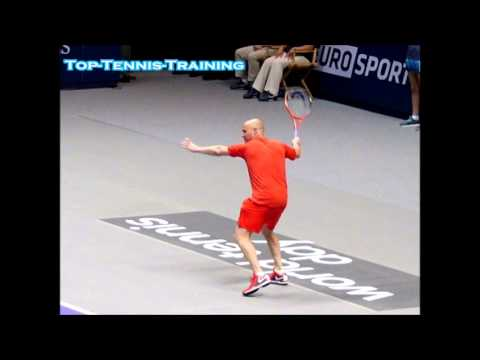 Andre Agassi Forehands Slow Motion #1