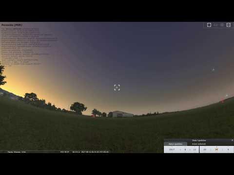 Maksimum meteorów z roju Perseidów 2017 Noc z 12 na 13 sierpnia (Symulacja)