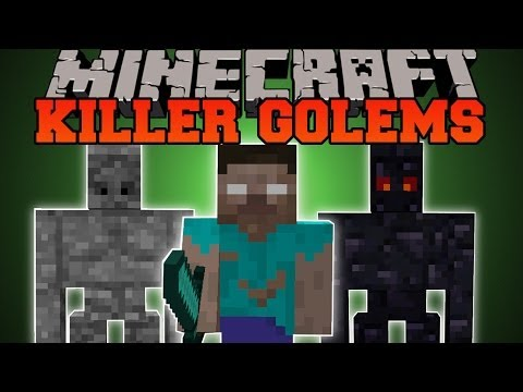 Minecraft: KILLER GOLEMS (MOB KILLING GOLEMS!) Utility Golems Mod Showcase