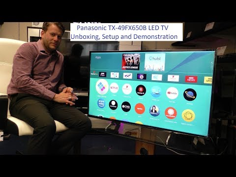 Panasonic TX-49FX650B 4K TV Unboxing and Demo