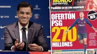 REVEALED: PSG Make WORLD RECORD £240M Bid For Philippe Coutinho?! | #TransferTalk