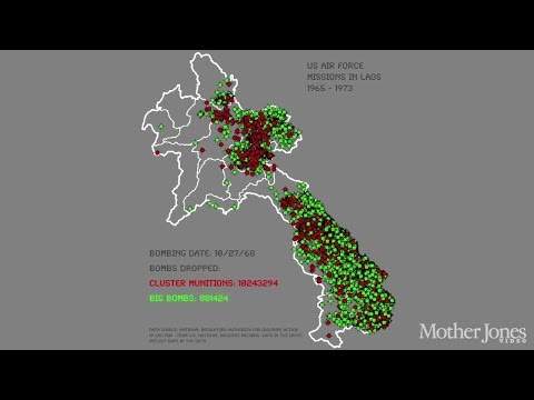Bombing Missions Over Laos From 1965-1973