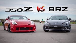 Nissan 350Z VS Subaru BRZ - Which is FASTER?