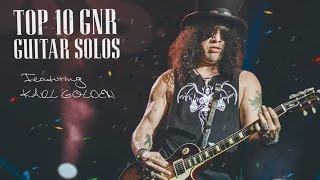 Top 10 Guns N Roses Guitar Solos - Ft. Karl Golden