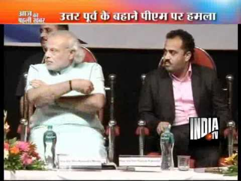 Narendra Modi lashes out at PM, Congress again