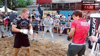 WUSHU MEESTER tegen twee!!! Militair Vechter en de Profi MMA!!!