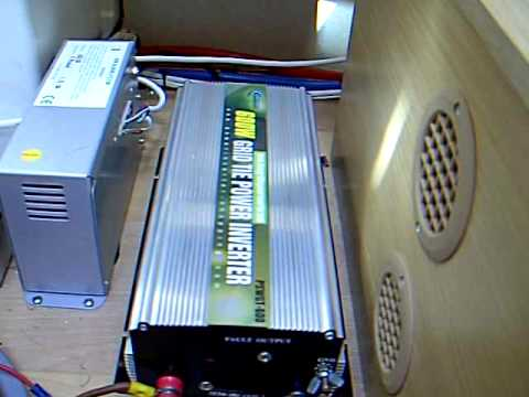 Solar Panel Setup And Grid Tie Inverter In My Caravan