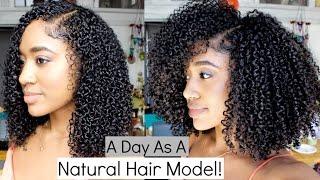 Vlog: Natural Hair Modeling| ORS Shoot!!