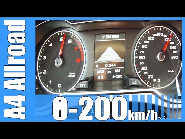 Audi A4 Allroad 2.0 TFSI Quattro 0-200 km/h NICE ...
