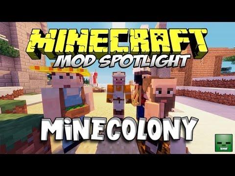 MINECOLONY MOD - Crea y desarrolla tu aldea [Forge][1.6.4]