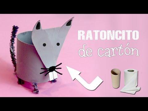 Ratón de cartón | Manualidades con rollos de papel