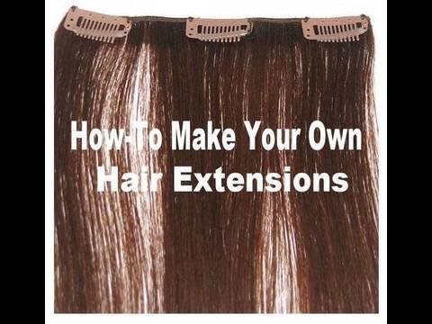 How to make Hair Extensions Clip-In Hair Extensions How-To Tutorial