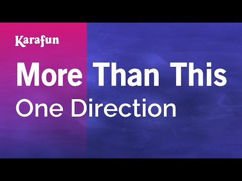 Karaoke More Than This - One Direction * video