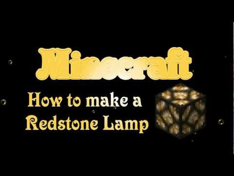 Minecraft - How to make Redstone Lamp