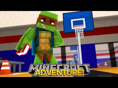 Minecraft Adventure - TINY TURTLE GOES BACK TO SCHOOL AS A STUDENT!