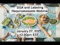 Register for Dietary Guidelines Webinar