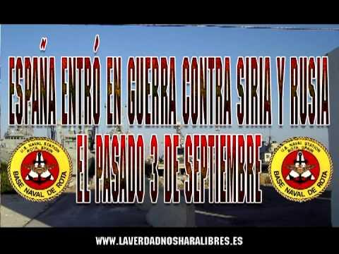 España entró en guerra contra Siria y Rusia el pasado 3 de Septiembre