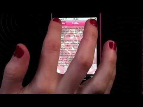 Applicazione iPhone Ricette di Bellezza
