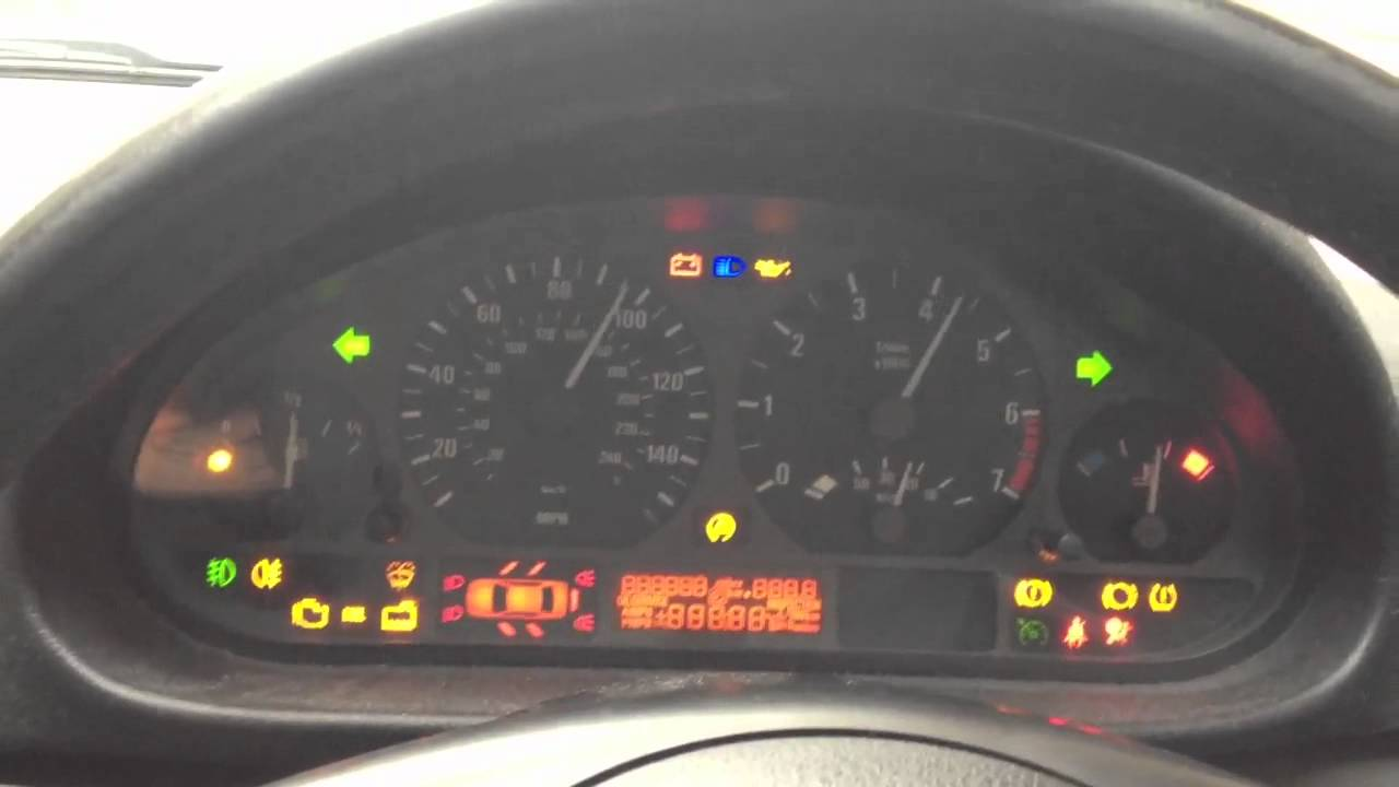 Bmw 3 Series Warning Lights >> BMW 316 ti E46 Dashboard Diagnostic Light Test - YouTube