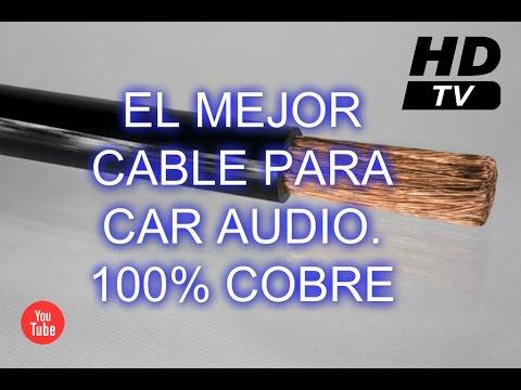 El mejor cable para CAR AUDIO / Cable porta electrodo / terminales - HD