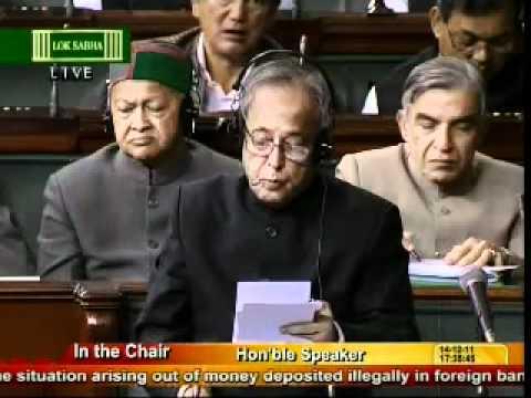 At last Lal Krishna Advani not satisfied what Pranab Mukherjee answered in Lok Sabha