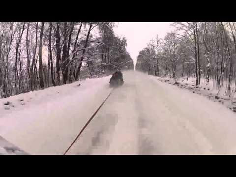 155 кмч на санках. 155kmh on sledge.