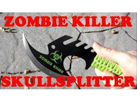 Zombie Killer Skullsplitter Throwing Axe - Show & Tell