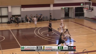 Varsity Boys Basketball - John Taylor Pipers vs Murdoch MacKay Clansmen - NLIT - February 14, 2019