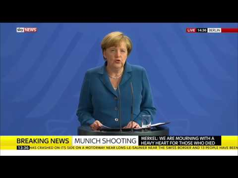German Chancellor Angela Merkel Makes Munich Statement
