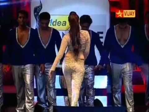 Tamannah Navel Hot Sexy Hip Dancing 59th Filmfare Awards Function 2012 video