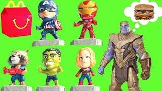 Set de 10 Juguetes de la Cajita Feliz de McDonald's de Avengers 4: Endgame