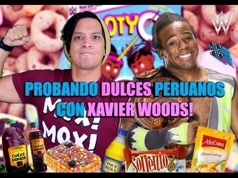 Probando Dulces Peruanos con Xavier Woods!