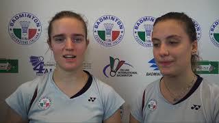 18° Yonex Italian international - Intervista a Lisa Iversen e Silvia Garino
