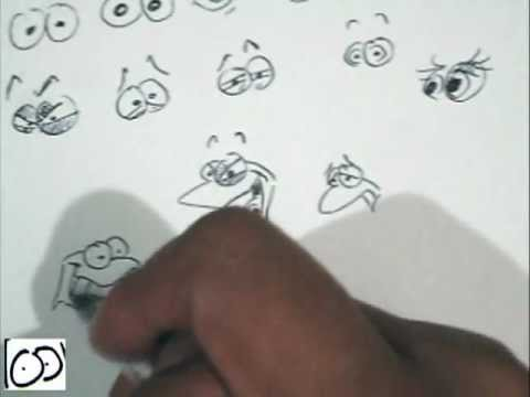 cartoonea con cartoonarte - aprende caricatura y dibujo improvisado  ( parte 1 ojos )